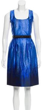 Andrew Gn Printed Silk Dress