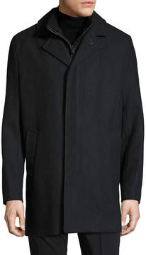 Cole Haan Men's Woven Notch Lapel Coat