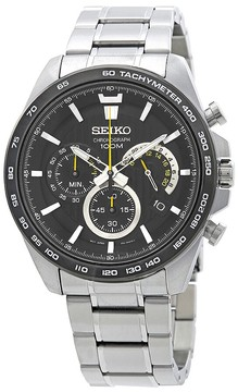 Seiko Chronograph Black Dial Men's Watch