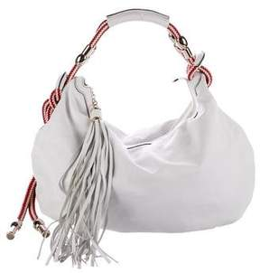 Gucci Leather Acapulco Hobo - WHITE - STYLE