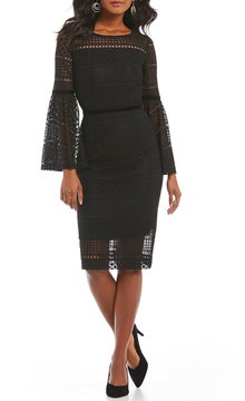 Antonio Melani Alfa Lace Bell-Sleeve Dress