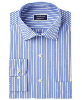 Club Room Men's Slim-Fit Performance Wrinkle-Resistant Striped Dress Shirt, Created for Macy's
