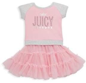 Juicy Couture Little Girl's Logo Tee & Tutu Skirt Set