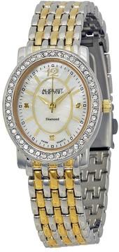 August Steiner Two-tone Metal Diamond Ladies Watch