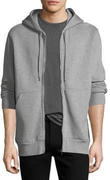 Burberry Logo-Hood Zip-Front Hoodie