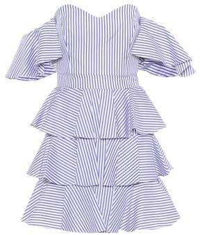 Caroline Constas Irene striped off-the-shoulder dress