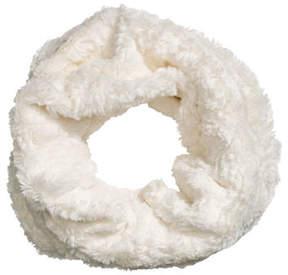 H&M Faux fur tube scarf - White