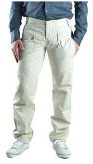 Dirk Bikkembergs Men's Beige Cotton Pants.