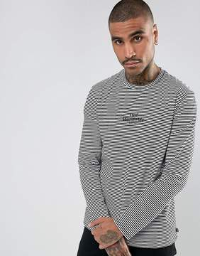 HUF Royale Long Sleeve Striped T-Shirt With Embroidered Logo
