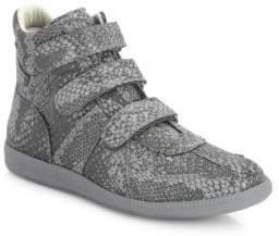 Maison Margiela Triple Grip-Tape Reflective Hi-Top Sneakers
