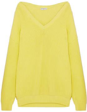Balenciaga Oversized Ribbed Cotton-blend Sweater - Yellow