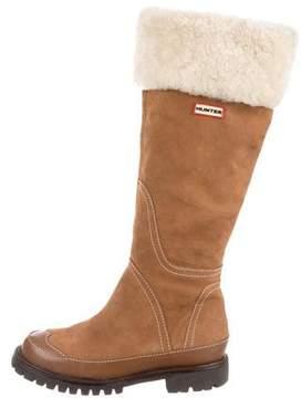Hunter Nubuck Knee-High Boots