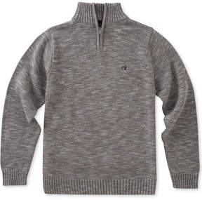 Calvin Klein Marled Quarter-Zip Cotton Sweater, Big Boys (8-20)