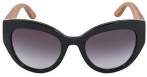 Dolce & Gabbana Cat Eye Sunglasses Dg4278 501 8g 52 | Black Frame | Gray Gradient Lenses.