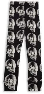 Nununu Toddler's & Little Girl's X-Ray Skull Cotton Leggings