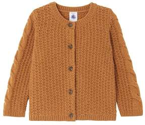 Petit Bateau Baby girl's wool blend cardigan