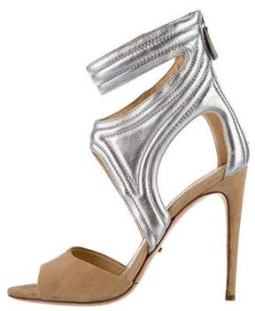 Jerome C. Rousseau Quilted Metallic Sandals
