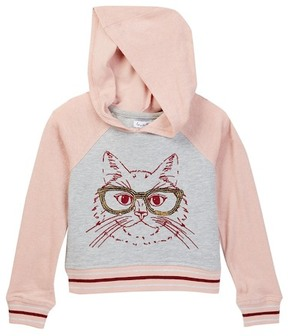 Love, Fire Color Block Hoodie (Little Girls)