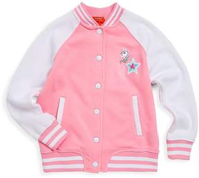 Butter Shoes Girl's Pony Graphic Fleece Bomber Jacket