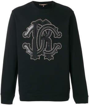 Roberto Cavalli studded logo sweatshirt