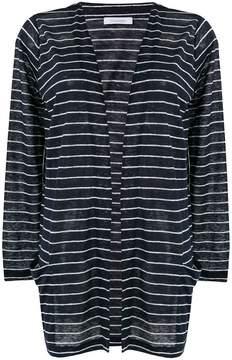 Cruciani striped open cardigan