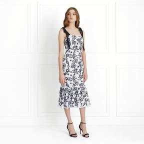 Rachel Zoe Lily Embroidered Midi Dress