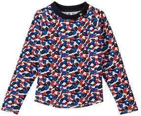 Petit Bateau Girl's sweatshirt in light cotton fleece