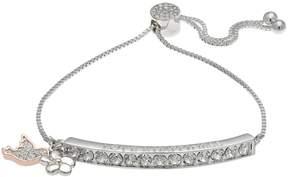 Brilliance+ Brilliance Two Tone Love & Happiness Bolo Bracelet with Swarovski Crystals
