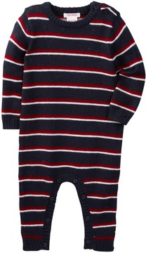 Joe Fresh Striped Knit Romper (Baby Boys)