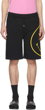 Palm Angels Black PA Smiling Lounge Shorts