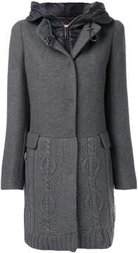 Fay hooded knit coat