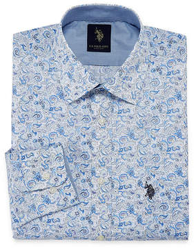U.S. Polo Assn. USPA Uspa Dress Shirt Long Sleeve Paisley Dress Shirt - Slim