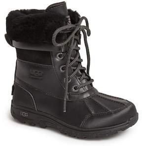 UGG Butte II Waterproof Shearling Lined Leather Boot (Baby, Toddler, & Little Kid)