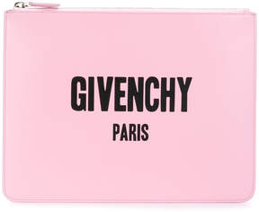 Givenchy Paris print clutch bag