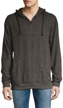 Alternative Apparel Men's Anorak Ribbed Hoodie