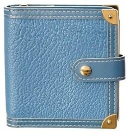 Louis Vuitton Blue Suhali Leather Compact Zip Wallet. - NO COLOR - STYLE