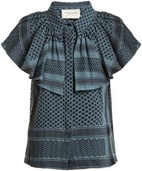 DAY Birger et Mikkelsen CECILIE COPENHAGEN Neobe scarf-jacquard cotton top