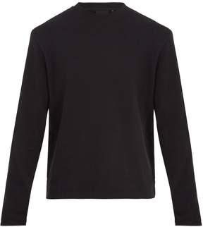 Helmut Lang Crew-neck cotton-blend sweatshirt