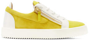 Giuseppe Zanotti Yellow and White May London Sneakers