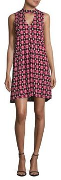Context Printed Choker Dress