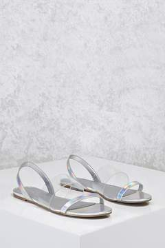 Forever 21 Holographic Clear Sandals