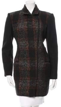Edun Wool-Blend Patterned Coat