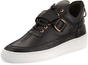 Filling Pieces Low-Top Clasp Sneakers, Black