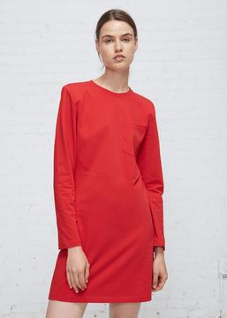 Aalto Red Long Sleeve Jersey Mini Dress