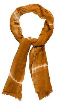 Oscar de la Renta Woven Tie-Dye Scarf