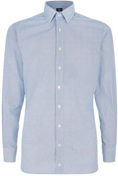 Hackett Diamond Print Collar Shirt