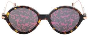 Christian Dior Umbrage OX3TN Sunglasses | Tortoise/Pink Temples & Purple Patterned Lens
