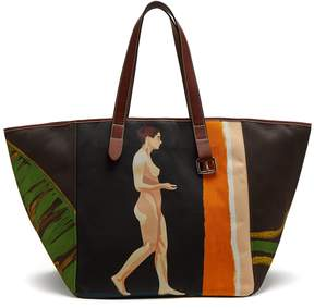 J.W.Anderson Belt-strap leather-trimmed tote