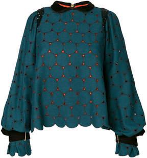 Kolor circle lace blouse