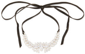 Fallon Monarch Leather & Crystal Choker Necklace